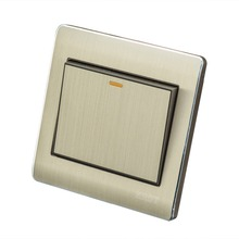 Home Wall Switch Socket, 86-Type Concealed Gold, A Single Control Panel, 10A PC110-250V