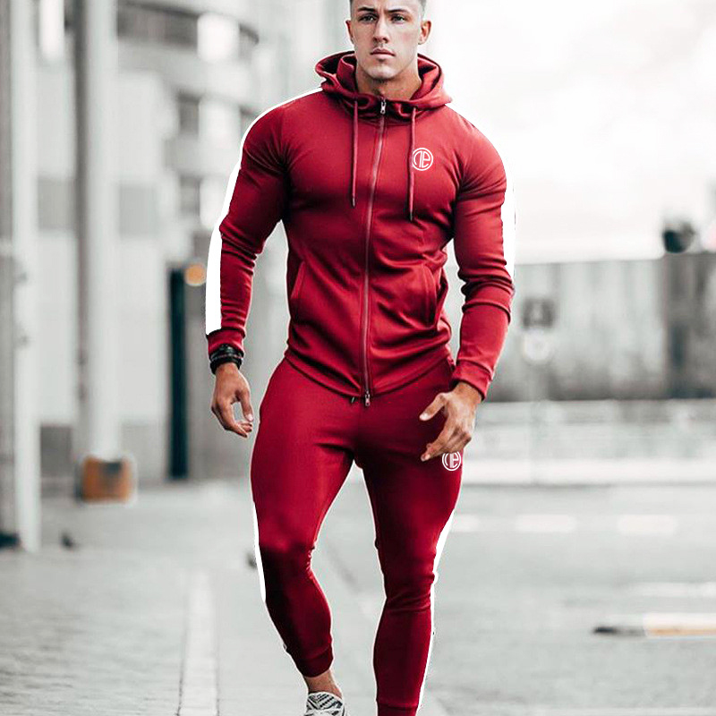 Running Tracksuit Sport Gym Men Set Sports Top (25)