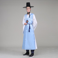 High Quality Orthodox Silk Korean Traditional Costume Wedding Costume Satin Male Hanbok Korean Ethnic Clothing For