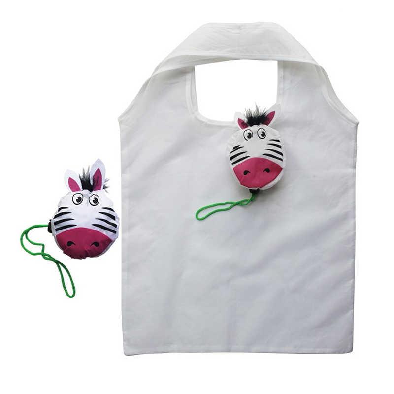 Venta caliente dibujos animados animales niños reciclaje personalizado Proable niños compras juguete almacenamiento Buggy bolsa