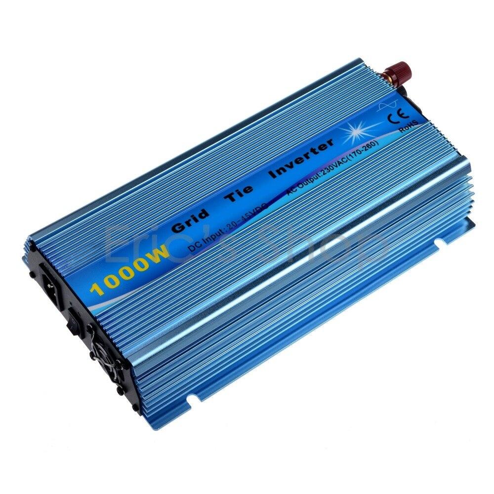Grid Tie Inverter 1000W Pure Sine Wave Inverter DC20V-45V to AC220V Fit For 24V/36V 60Cells/72Cells With MPPT Function Inverter 1000w 30v 60cells 36v 72cells mppt grid tie inverter 20 45vdc to ac190 260v or 90 140v on grid tie micro inverter 1000w