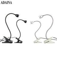 LED Desk Lamp Flexible Clip USB 1W LED Reading Lamp Adjustable Brightness Eye Protection Table Lamp