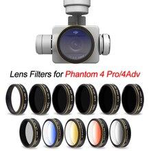 UV CPL ND4 ND8 ND16 Graduale Filtro Colore per DJI Phantom 4 Pro V2.0 Avanzata Drone Camera Lens Polarizzatore Neutro densità GND