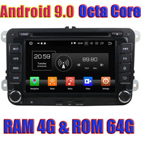WANUSUAL Android 9.0 Car DVD Autoradio for VW Jetta/Seat/CC/Polo Golf/Golf 5/Golf 6 2006 2012 GPS Navigation Player 2 Din Video
