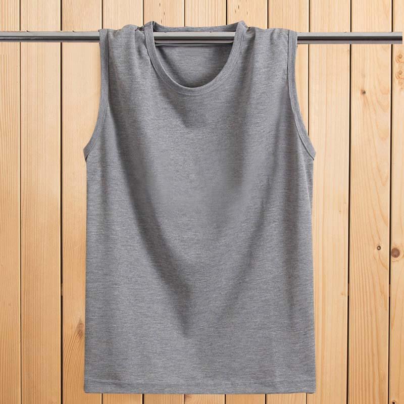 f9365bf9d4d 2018 Summer Men Male Sleeveless Tee shirt Homme Custom Logo Cotton Solid  Top Tees Boys Mens