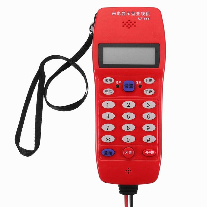 LEORY NF-866 телефонные линии Кабельный тестер 16-цифры DTMF FSK Идентификатор вызывающего абонента автоматического обнаружения телефон оптический ...