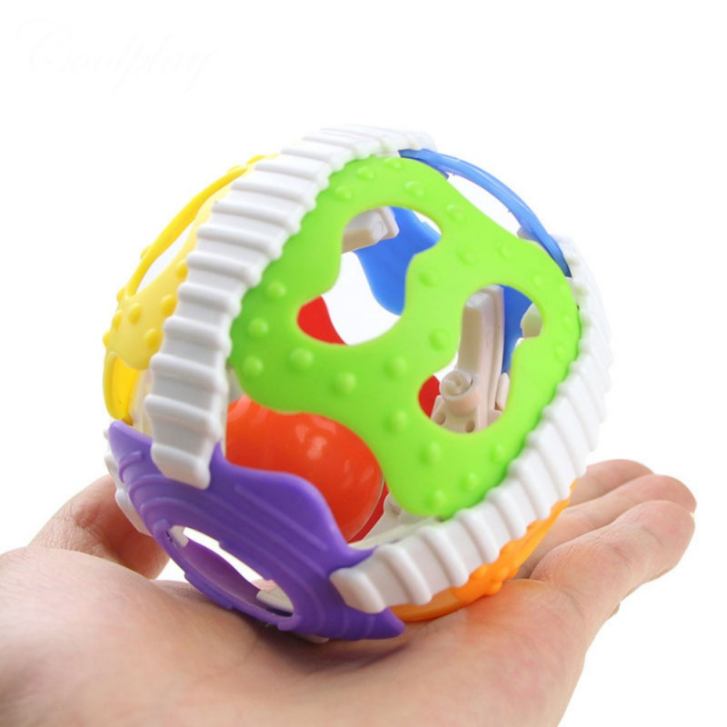 Baby Toys Fun Bell Grasping Intelligence Baby Hand Toy Rattles Activity Ball Develop Little Loud