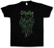 CTHULHU T-SHIRT Wars Horror Arkham H. P. Miskatonic Lovecraft Dunwich Men T Shirt Print Cotton Short Sleeve T-Shirt lovecraft h the dunwich horror and other stories