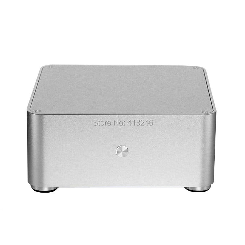 Mini ITX PC Case Aluminum HTPC Computer Case W80 Model Support WIFI COM футболка print bar бу и салли