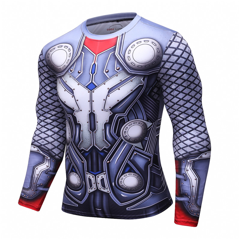 THOR 3D Printed T shirts Men Compression Shirt 2017 New THOR Cosplay Long Sleeve Tops Male Crossfit Fitness BodyBuilding Clothes