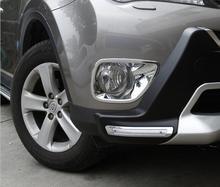 NUEVO 1 par Chrome Delantero Luz de Niebla Bisel Ajuste de La Cubierta Para Toyota RAV4 2013 2014 2015