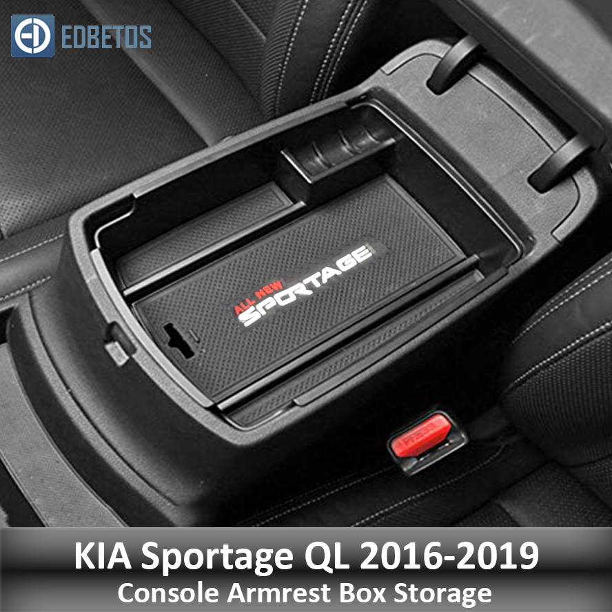 Armrest Storage Box For KIA Sportage KX5 QL AT LHD 2016 2017 -2019 Center Console Organzier Stowing Tidying Storage Holder Tray