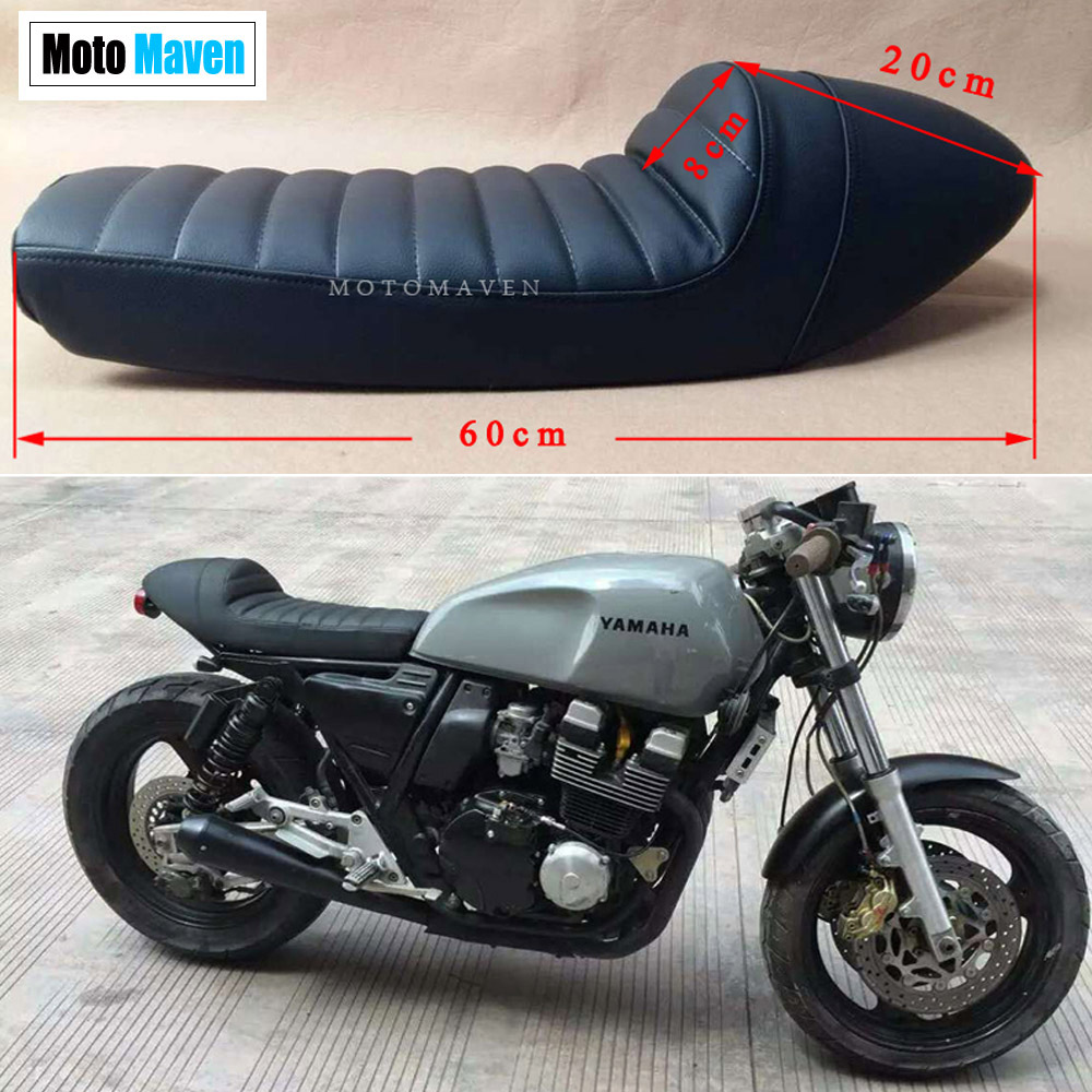 2016 Brand New  CAFE RACER SEAT  SR400  SR500  Universal Black Motocycle Seat  SET With Brackets and screws