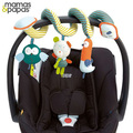 Urso coruja pássaro para crianças pano multifuncional chocalho carro cama em torno de bebê de pelúcia pelúcia brinquedo educativo