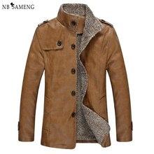 2016 Spring Mens Leather Tactical Brand Motorcycle Clothing Veste Winter Jacket Men Jackets Coat Faux Fur