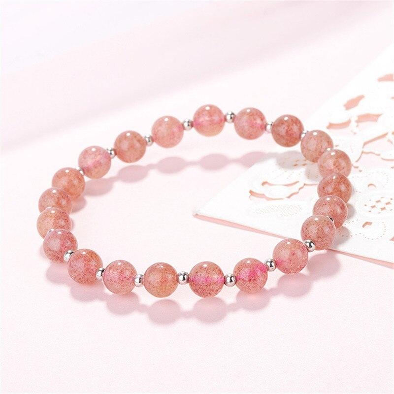 LUKENI New Fashion Women Crystal Balls Bracelets Jewelry Top Quality Silver Strawberry Bangles Girl Lady Bijou