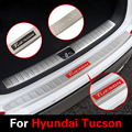 For Hyundai Tucson 3rd 2015 2016 2017 Car Trunk Rearguard Covers Internal +External Decoration Bumper  Accessories Car-styling