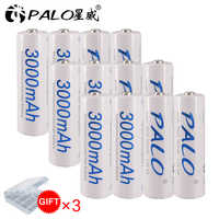 12 Pcs AA Battery Batteries 1.2V aa 3000mAh Ni-MH Pre-charged Rechargeable Battery 2A for Camera