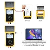 AUTOOL BT660 tester akumulatora samochodowego z drukarką BT660 analizator baterii do zalania CCA AGM GEL EFB wykrywa zły akumulator na