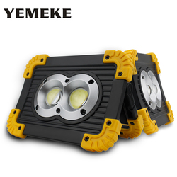 COB Work Light Rechargeable With 18650 Battery OR 3*AAA Battery 5V 20W Led Flood Light Portable Spotlight Outdoor Lighting