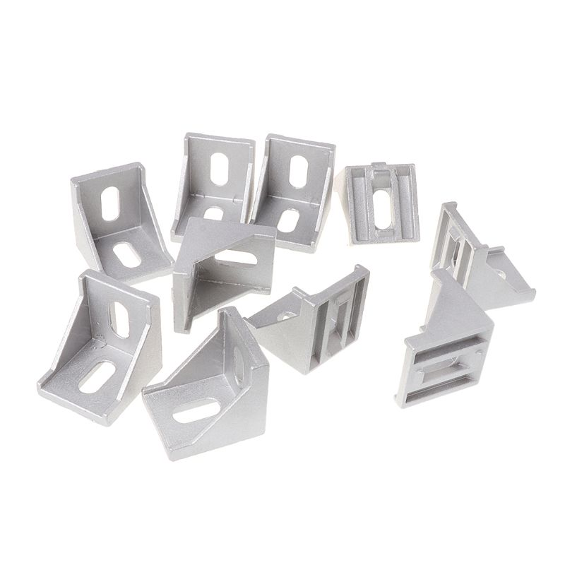 10pcs 4040 Fasten Fitting Angle 40x40 L Connector Aluminum Corner Bracket Joint Brace