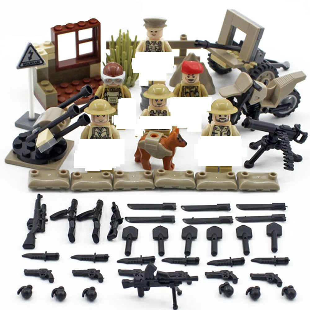 hot military World War II United Kingdom Royal army Building Blocks Battle of Imphal mini weapons figures model bricks toys gift