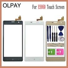 Olpay 5.0 painel de toque para dexp ixion es950 tela de toque de vidro digitador da lente do painel sensor vidro livre adesivo e toalhetes
