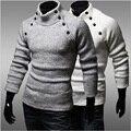Пуловеры Мужчины Свитера Водолазка С Длинным Рукавом Роскошные Мужские Шерсть Кнопка Bape Вязаный Свитер Человек Зима Рождество Перемычки Одежда