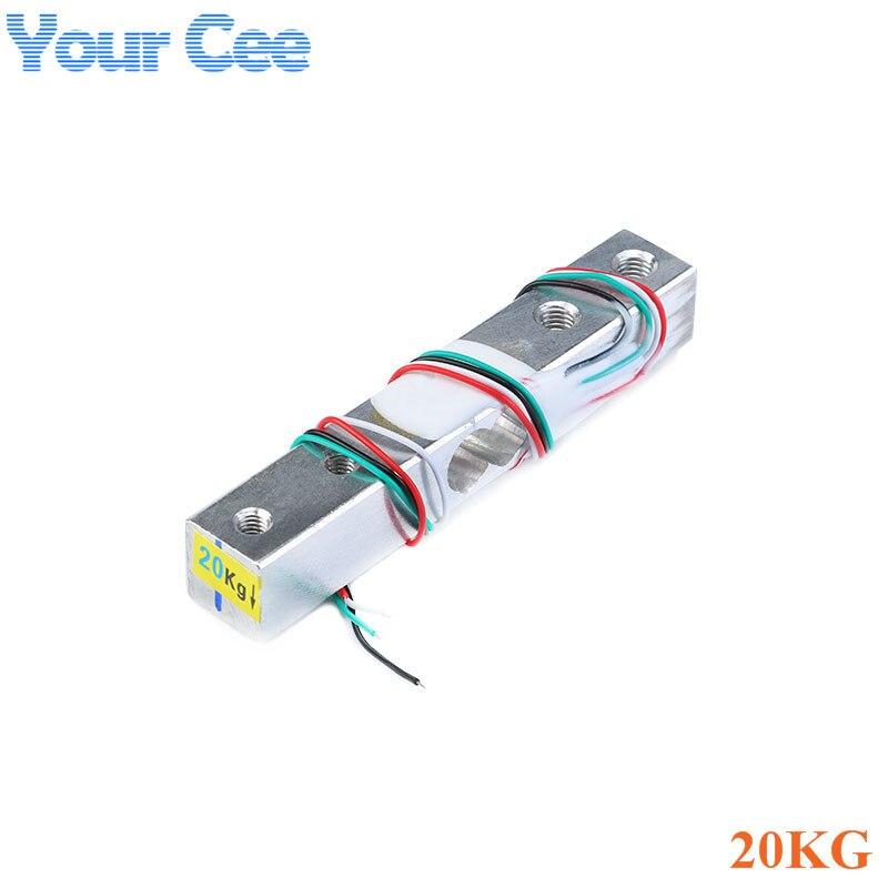 Тензодатчик 1 кг 5 кг 10 кг 20 кг HX711 AD модуль датчик веса электронные весы алюминиевый сплав взвешивания датчик давления - Цвет: 20KG