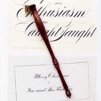 Rose Wood English Calligraphy Copperplate Oblique Dip Pen Holder Handmade European Gift Vintage Dip Pen