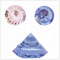 120mm 1pcs Sparkle Multifaceted Crystal Diamond Paperweight Souvenirs Lilac/Pink For Wedding Party Decoration