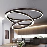 NEO Gleam Gold/Coffee Black Aluminum Modern Led Chandelier For Living Dining Kitchen Room AC85 265V Hanging Chandelier Lights