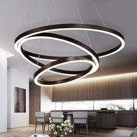 NEO Gleam Gold Coffee Black Aluminum Modern Led Chandelier For Living Dining Kitchen Room AC85 265V