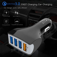 YWEWBJH Quick Charge QC 3.0 Car Charger 4 Ports USB For Xiaomi mi 9 P30 Pro S8 S9 S10 For iPhone X Tablet Phone Fast Charge цены
