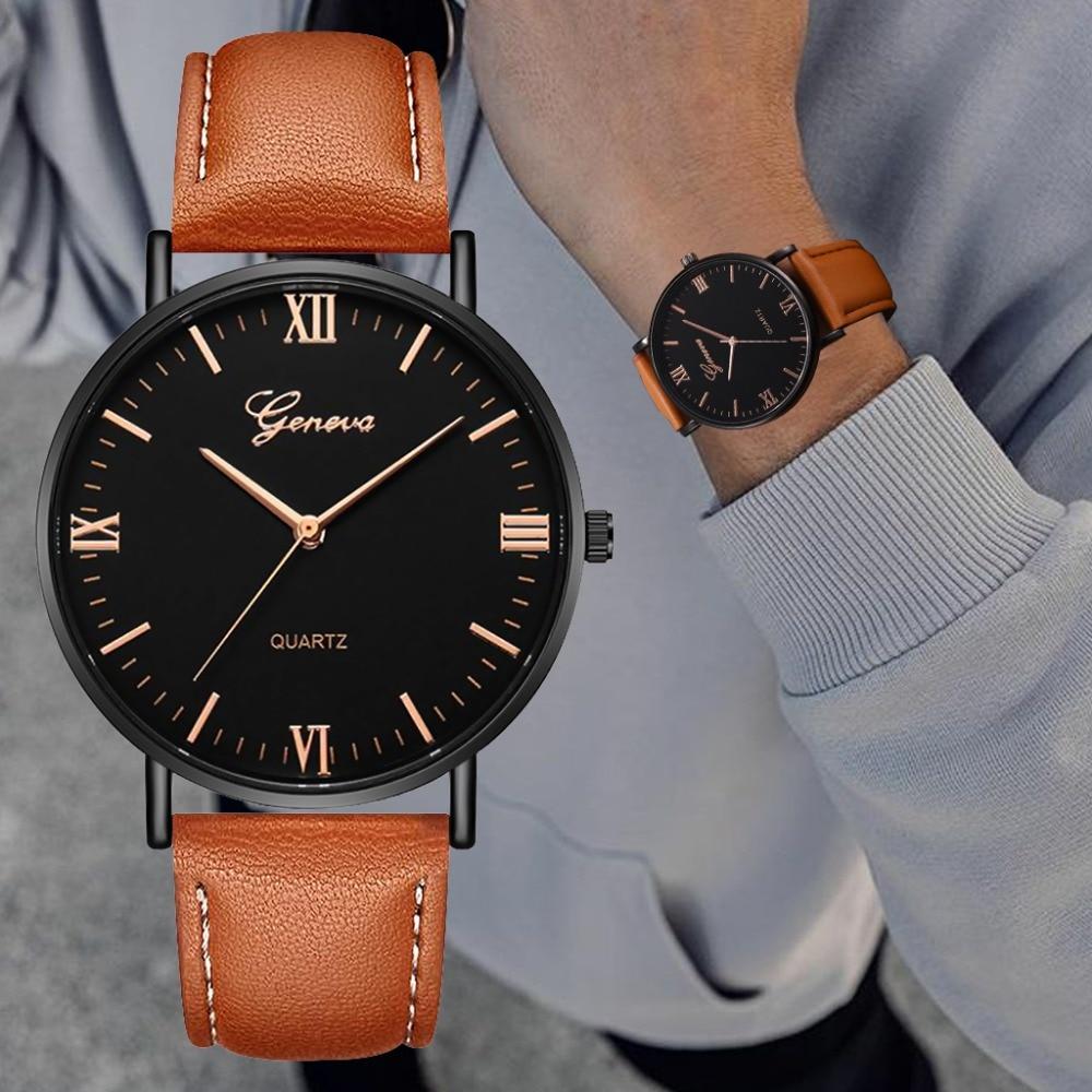 2019 Fashion Quartz Watch Men Watches Luxury Male Clock Business Mens Wrist Watch Hodinky Relogio Masculino DropShipping