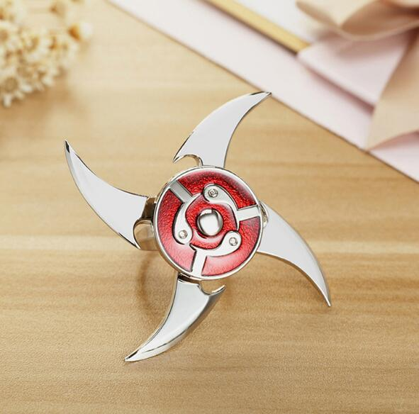 Hot Naruto Sharingan Shuriken Fidgets Spinner Rings