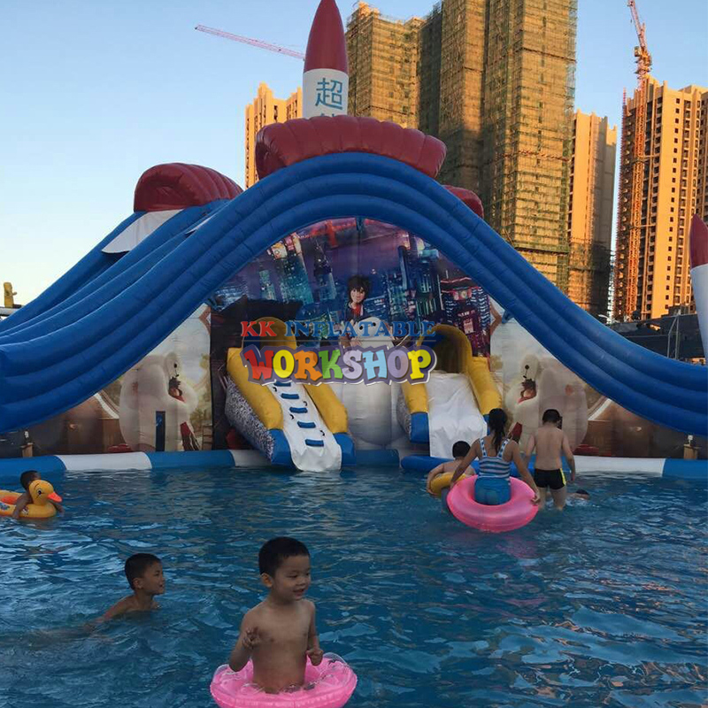 inflatable floating park,The most fun inflatable pool paradise
