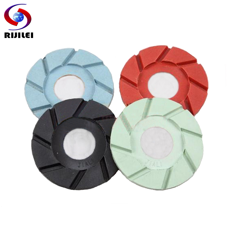 Us 21 4 Rijilei 5 Pcs Lot 4inch Resin Diamond Polishing Pads 100mm Grinding Terrazzo Marble Stone Concrete Floor Grinding Disc 3fp2 1 In Polishing