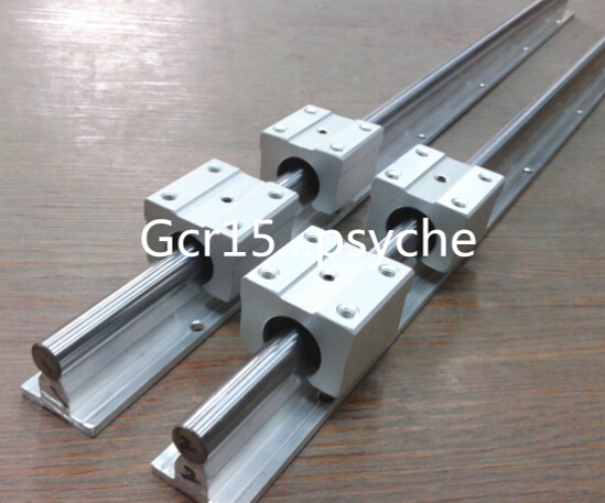 2X SBR12-500mm 12MM FULLY SUPPORTED LINEAR RAIL SHAFT ROD 4 SBR12UU Block