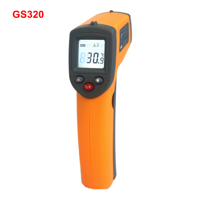 GS320 Digital IR Infrared Thermometer Temperature Meter -50~360C -58~680F Pyrometer benetech lcd digital infrared thermometer pyrometer laser point temperature gm300 meter free shipping