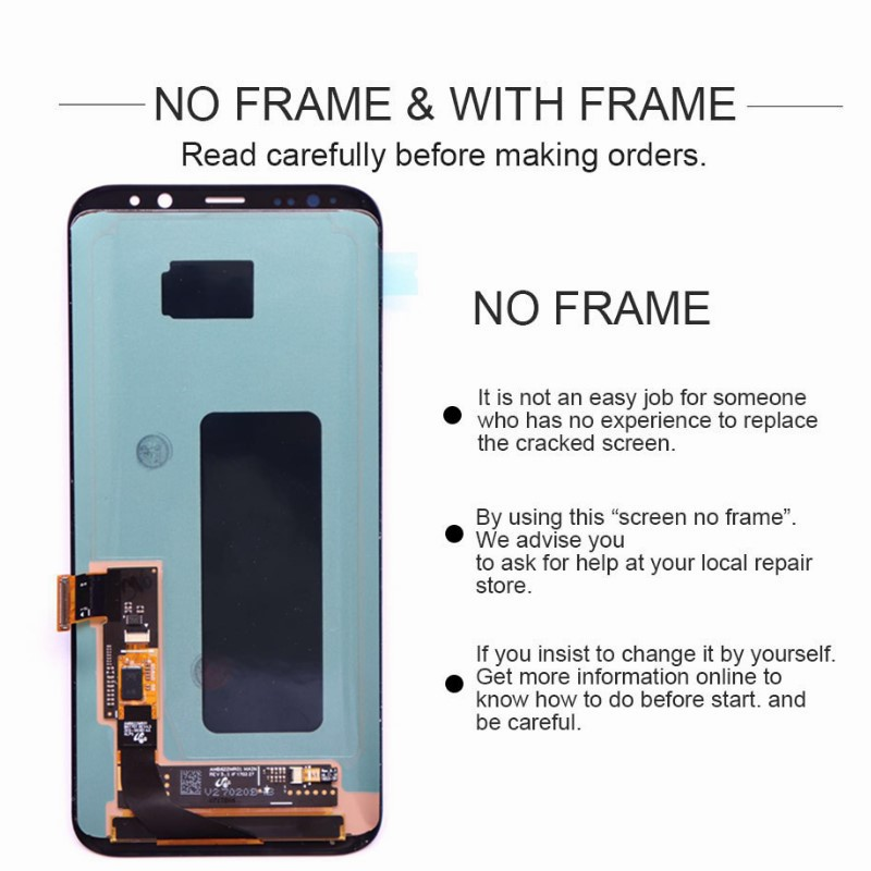 HTB1FV NdjbguuRkHFrdq6z.LFXau Original Super AMOLED Display For Samsung S8 G950F G950U S8 Plus G955 G955F LCD Touch Screen Digitizer Assembly With Frame