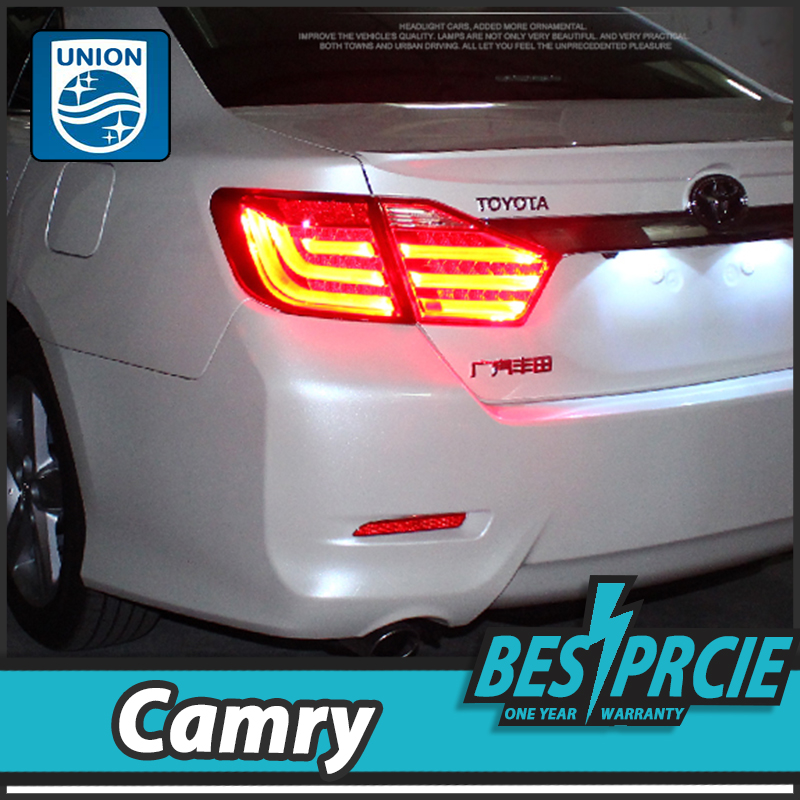 UNION Car Styling for Toyota Camry Tail Lights 2012-2014 Camry V50 LED Tail Light Aurion Rear Lamp DRL+Brake+Park+Signal