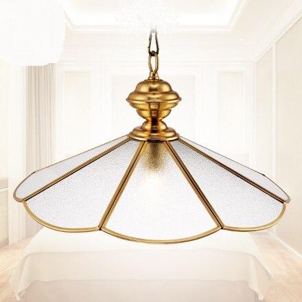 Copper lamp hall lamp corridor pendant lamp all copper fashion GLASS pendant lights ZH ZL313