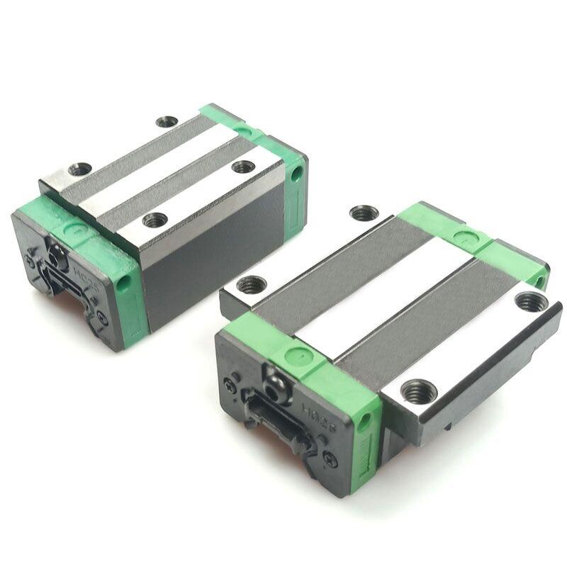 Envío gratis 2 unids carril lineal de HGR20 L = 100, 200, 300, 500 ~ 1500mm y 4 unids HGH20CA o HGW20CC lineal guía bloque cnc - 3