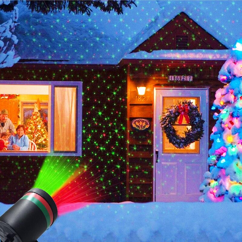 Im freien Garten Rasen Stadiumseffektlicht Fee Stern Laser Projektor Wasserdicht Landschaft Park Garten Weihnachten Dekorative Lampe