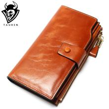2018 New Design Fashion Multifunctional Purse Genuine Leather Wallet Women Long Style Cowhide Purse Wholesale And Retail Bag(China)