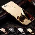 Роскошные Ультра-тонкий Зеркало Aluminiu Случай Мобильного Крышка Золотой цвет Задней Части Металла Крышка телефона Для Apple iPhone 6 S PLUS 5S 7 7 s Plus