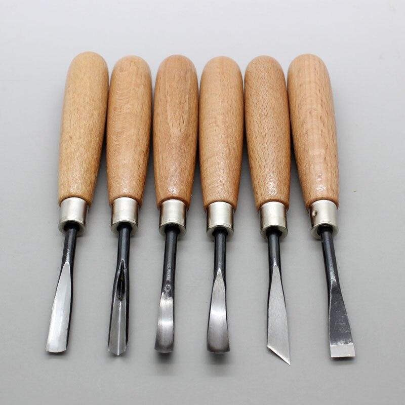 Escultura em Madeira Conjunto de Ferramentas Escultura Faca Especiais Mão 6 pc