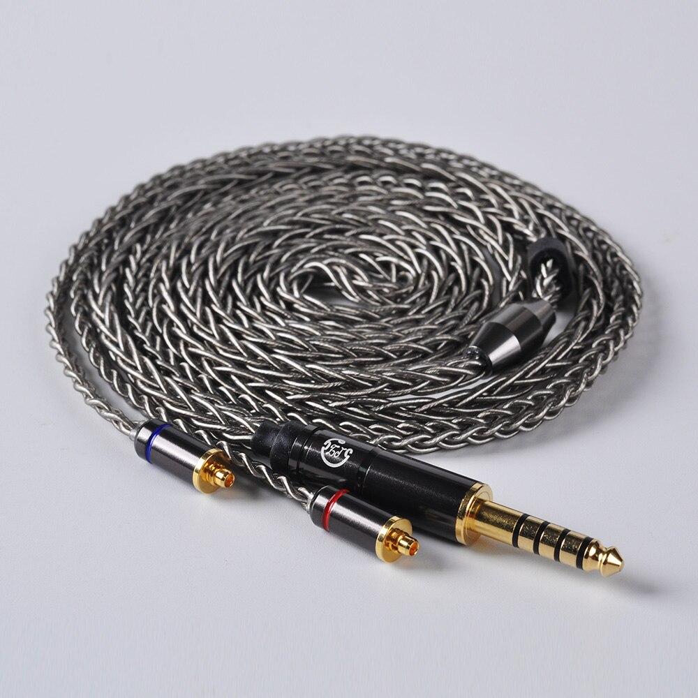 AK LZ 8 core 6N один кристалл Медь посеребренный кабель 2,5/3,5/4,4 мм балансный кабель с разъем MMCX для LZ A5 A4 HQ8 HQ10