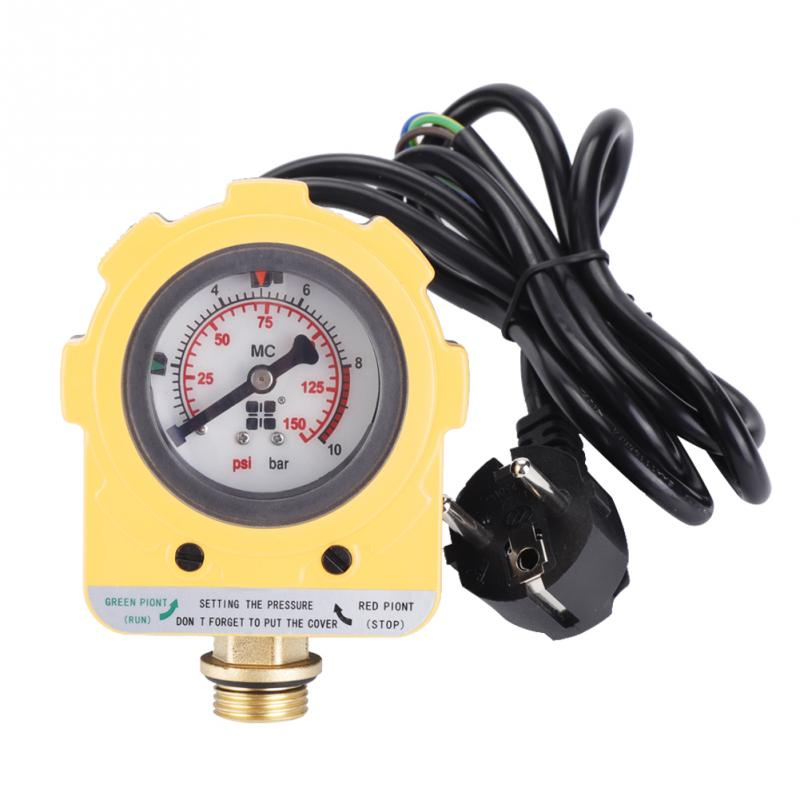 220V 10 Bar Pressure Controller Unit Electronic Switch for Water Pump EU plug With 140000 Times Service Life